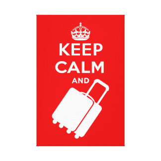 Keep Calm and Carry on Luggage Canvas Print