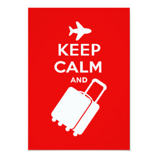 Keep Calm and Carry on Luggage Card