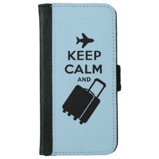 Keep Calm and Carry on Luggage iPhone 6/6s Wallet Case