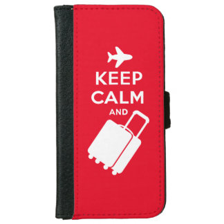 Keep Calm and Carry on Luggage iPhone 6 Wallet Case