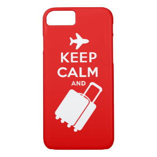 Keep Calm and Carry on Luggage iPhone 7 Case