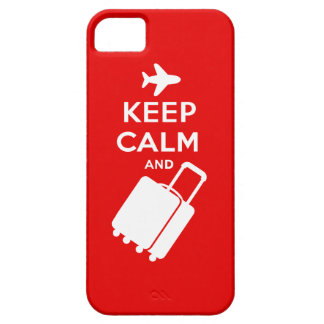 Keep Calm and Carry on Luggage iPhone SE/5/5s Case