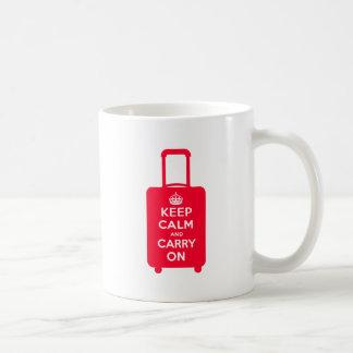 Keep Calm and Carry on Luggage Classic White Coffee Mug