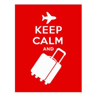 Keep Calm and Carry on Luggage Postcard