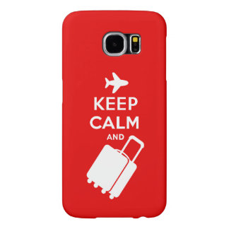 Keep Calm and Carry on Luggage Samsung Galaxy S6 Cases
