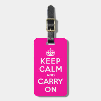 Keep Calm and Carry On Bag Tag