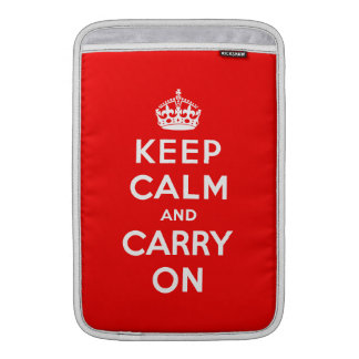 "Keep Calm and Carry On MacBook Air 11"" Sleeve"