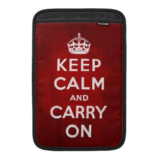 "Keep Calm and Carry On MacBook Air 11"" Sleeve MacBook Sleeves"