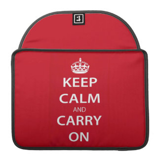 Keep Calm and Carry On Sleeves For MacBooks