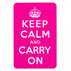 4'x6' Photo Magnet with Keep Calm and Carry On (Magenta) design