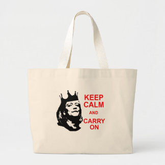 Keep Calm and Carry On, Meg Large Tote Bag