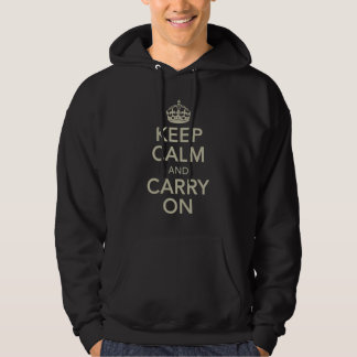 Keep Calm And Carry On Mens Hooded Sweatshirt