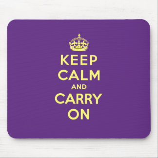 Keep Calm And Carry On Mouse Pads