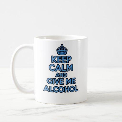 Keep Calm and Carry on mug - Alcohol