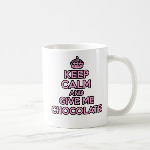 Keep Calm and Carry on mug - Chocolate