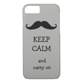 Keep Calm and Carry on mustache design iPhone 8/7 Case
