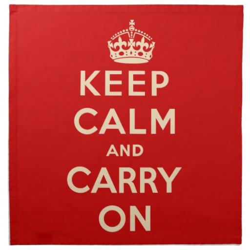 Keep Calm and Carry On Napkins