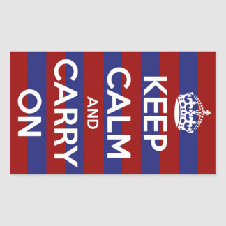 Keep Calm and Carry On Nautical Stripe Stickers