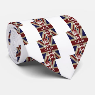 Keep Calm And Carry On Neck Tie