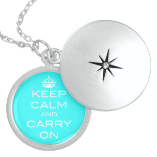 Keep Calm and Carry On Necklace - Any Color