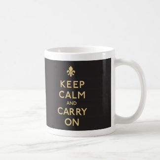 Keep Calm and Carry On, New Orleans! Coffee Mug