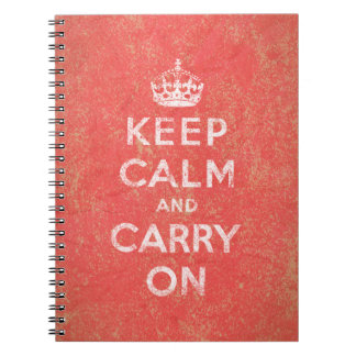 Keep Calm and Carry On Note Books