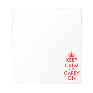 Keep calm and carry on note pads | writing paper