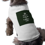 Keep Calm and Carry On Olive Green Dog Tshirt