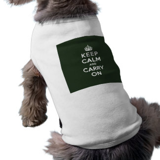 Keep Calm and Carry On Olive Green Shirt