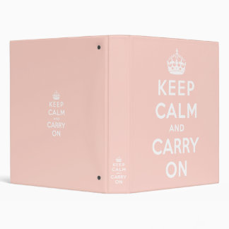keep calm and carry on Original 3 Ring Binder