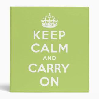 keep calm and carry on Original Binder