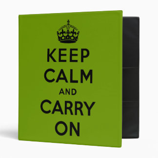 keep calm and carry on Original Binder