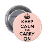 keep calm and carry on Original Button