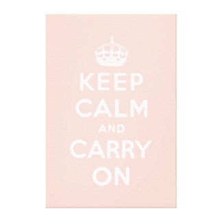 keep calm and carry on Original Canvas Print