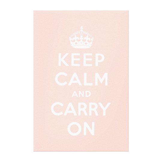 keep calm and carry on Original Canvas Print