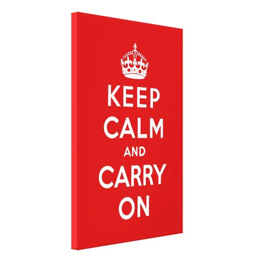 keep calm and carry on original canvas print zazzle. Black Bedroom Furniture Sets. Home Design Ideas