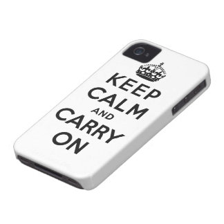 keep calm and carry on Original iPhone 4 Cases