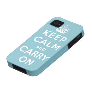 keep calm and carry on Original iPhone 4/4S Cases