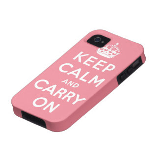keep calm and carry on Original Vibe iPhone 4 Covers