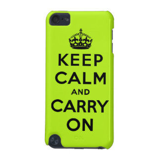 keep calm and carry on Original iPod Touch (5th Generation) Cover