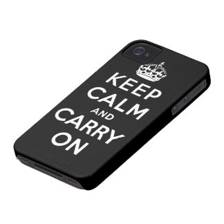 keep calm and carry on Original Case-Mate iPhone 4 Case