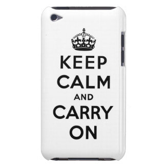 keep calm and carry on Original Case-Mate iPod Touch Case