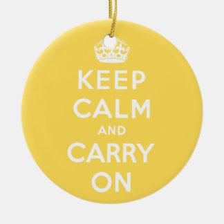 keep calm and carry on Original Ceramic Ornament