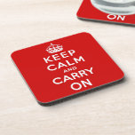 keep calm and carry on Original Drink Coaster