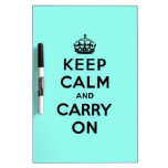 keep calm and carry on Original Dry-Erase Whiteboards