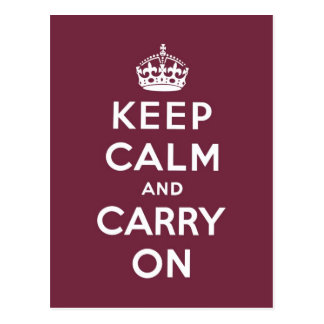 keep calm and carry on Original - Framboise Postcard