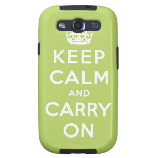 keep calm and carry on Original Galaxy S3 Covers