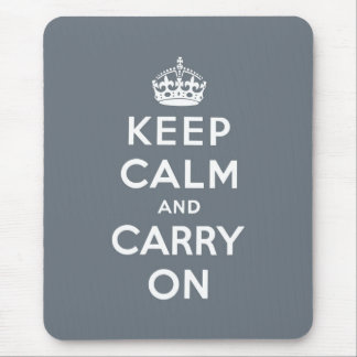 keep calm and carry on Original-Grey and white Mouse Pad