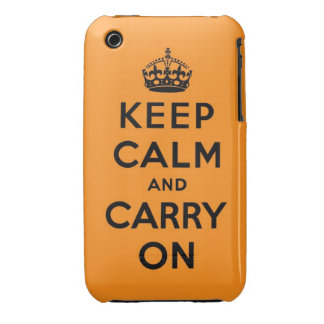 keep calm and carry on Original iPhone 3 Case