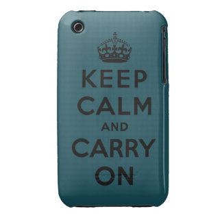 keep calm and carry on Original iPhone 3 Case-Mate Cases